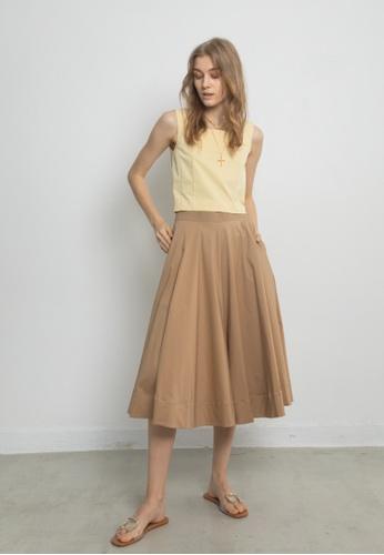 TAV beige [Korean Designer Brand] Wide Cotton Culottes - Beige EC8FCAA40AA672GS_1