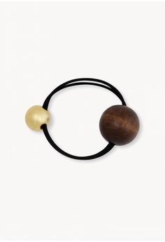 Pomelo black Woodball Elastic Hair Tie - Black C5791BEA8E1A03GS_1