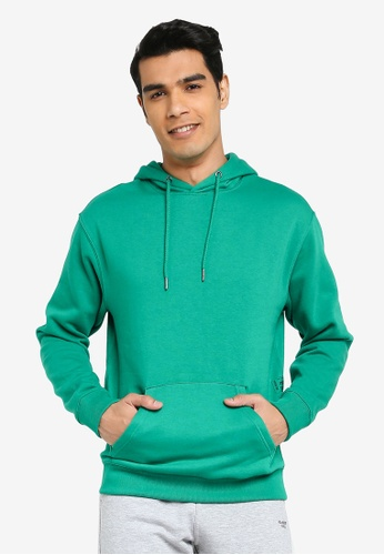 BLEND green Basic Hoodie E4739AA6689146GS_1