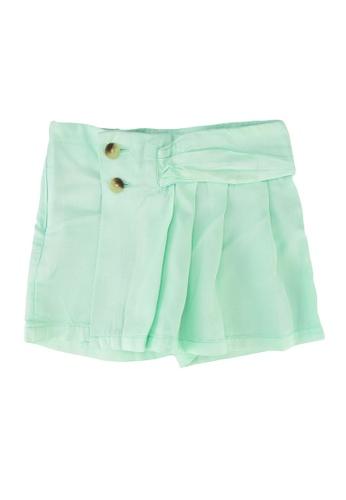 Guess green Tencel Twill Shorts 45D40KAD9BFE02GS_1