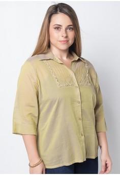 Anika Plus Size Quarter Sleeves Tops