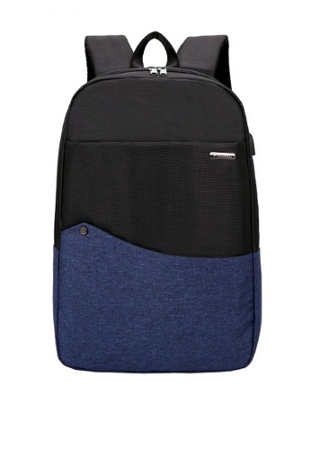 Lucky JX blue Christian Canvas Laptop Weekend Backpack FFA3BAC7FA36A7GS_1