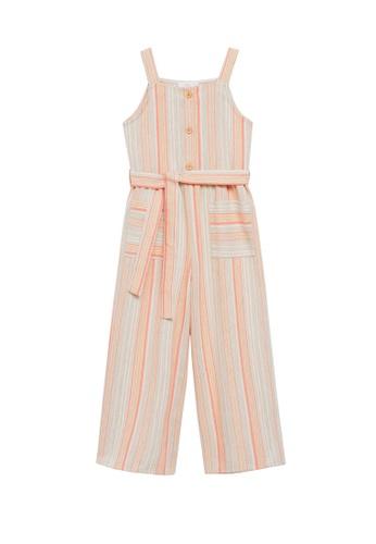 MANGO KIDS orange Striped Long Jumpsuit E295EKADACF16EGS_1