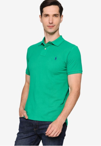 Polo Ralph Lauren green Basic Slim Polo Shirt 58C7AAA5A892D9GS_1