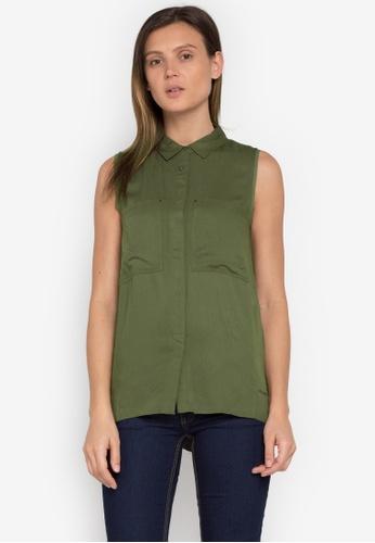 Calvin Klein green Woven Shirt CA221AA0KGDDPH_1