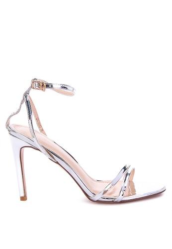 Primadonna silver Strappy High Heels B24C5SH0C453A1GS_1
