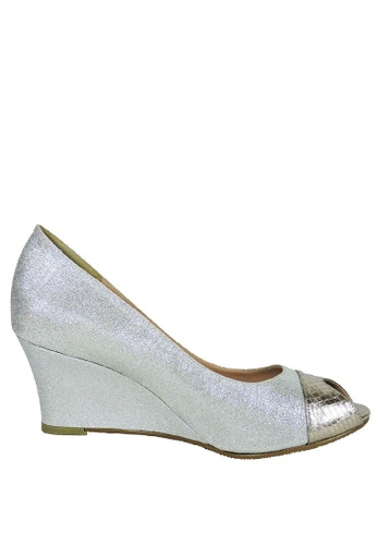 Jacque silver Mystic Silver Glitter Wedge JA262SH45LXYMY_1