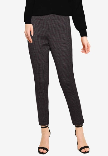 French Connection black Mary Dogtooth Jersey Skinny Trousers 2B25DAA423055FGS_1