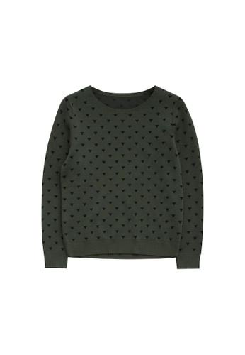 KLAPS green Patterned Sweater 3F0DEAA7D9068EGS_1