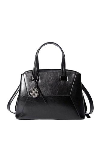 Twenty Eight Shoes black VANSA Vintage Burnished Leather Hand Bag VBW-Hb288 27522AC6AA60CFGS_1