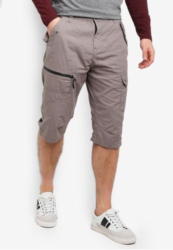 Brave Soul grey 3/4 Cargo Shorts 725D3AA4044ECBGS_1