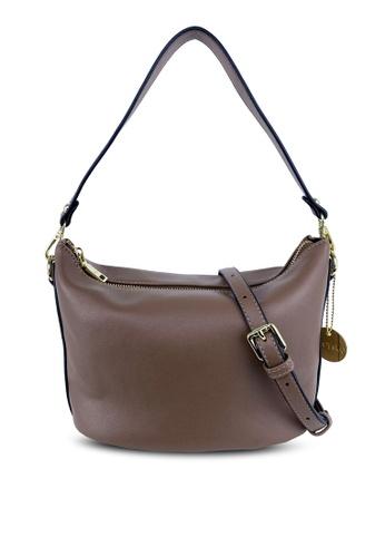Mel&Co brown Soft Basic Shoulder Sling Bag 8FE6BAC19F7960GS_1