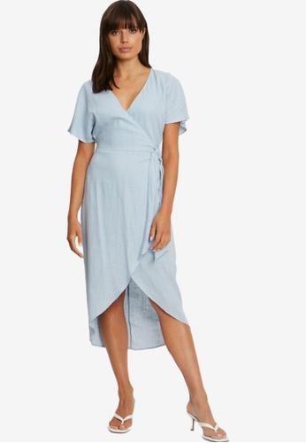 Tussah blue Cori Midi Dress FAE4BAAFFE8653GS_1