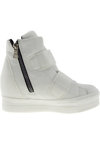 Maxstar Maxstar Women's C2 Dual Velcro Studed Hidden Heel PU High Top Sneakers US Women Size MA168SH79ZTOHK_1