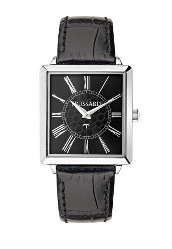 Trussardi black T-Princess Quartz Watch R2451119507 Black Leather Strap 62958AC27D7EA5GS_1