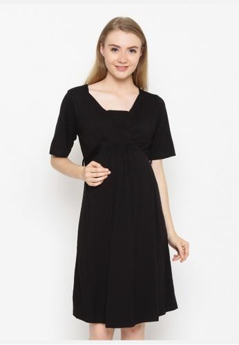 Chantilly black Maternity Dress Astrid 7D9B2AAB6BDB34GS_1