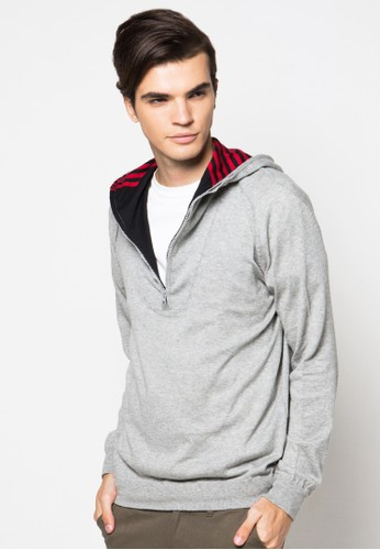 Noir Sur Blanc grey Mens Hoodies Ls NO321AA56RHRID_1