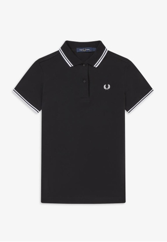 Fred Perry black G3600 - Twin Tipped Fred Perry Shirt - (Black) EF9CEAA5D89B72GS_1