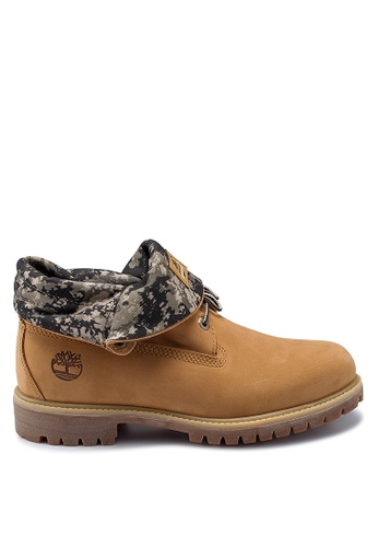 Timberland brown Roll Top Premium Boots 098F4SH2EFAE73GS_1