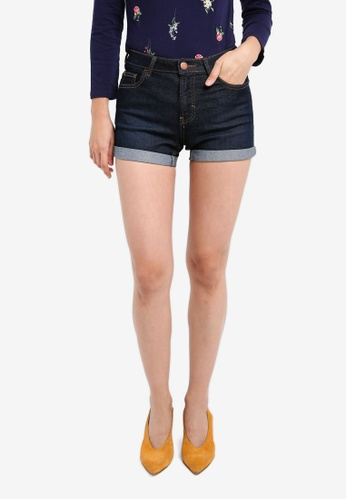 Dorothy Perkins blue and navy Indigo Entry Shorts DO816AA0SKTIMY_1