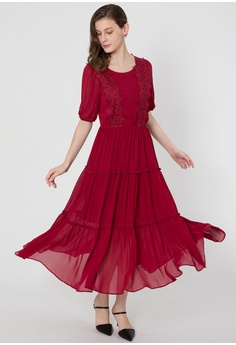 31ea2e2bdb7 BEBEBUTTERFLY red Bebebutterfly Long Dress 1DD0AAA817D124GS 1