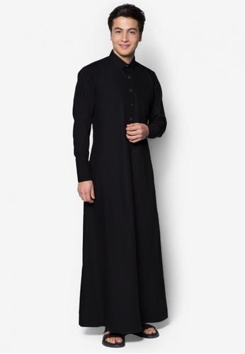 Amar Amran black Jubah A Daler Yusuf Edition Slim Fit (Black) 1A128AAB89BFE4GS_1