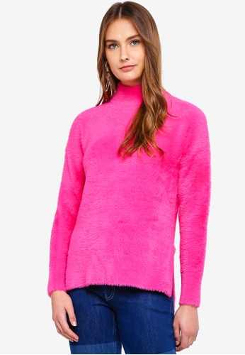 French Connection pink Edith Knit Side Split Jumper 519C4AAD82B259GS_1