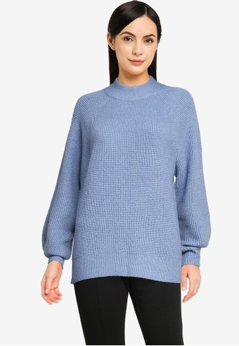 GAP blue Waffle Sweater F5EBEAACAB73C4GS_1