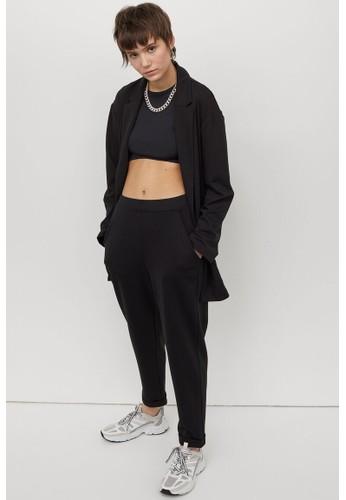 H&M black Jersey trousers 84092AAF6E4763GS_1