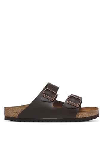 Birkenstock brown Arizona Smooth Leather Sandals BI090SH0RCOEMY_1