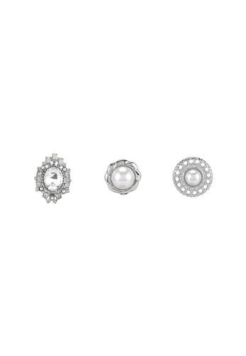 niko and ... silver Embellished Earrings 449EDACA22DA53GS_1
