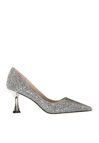 Twenty Eight Shoes 銀色 雙色閃片晚裝及新娘鞋 VP12662 6B796SH0C2C15BGS_1