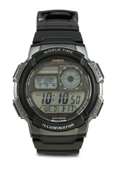 AE-1000W-1BVDF 多功能電子錶
