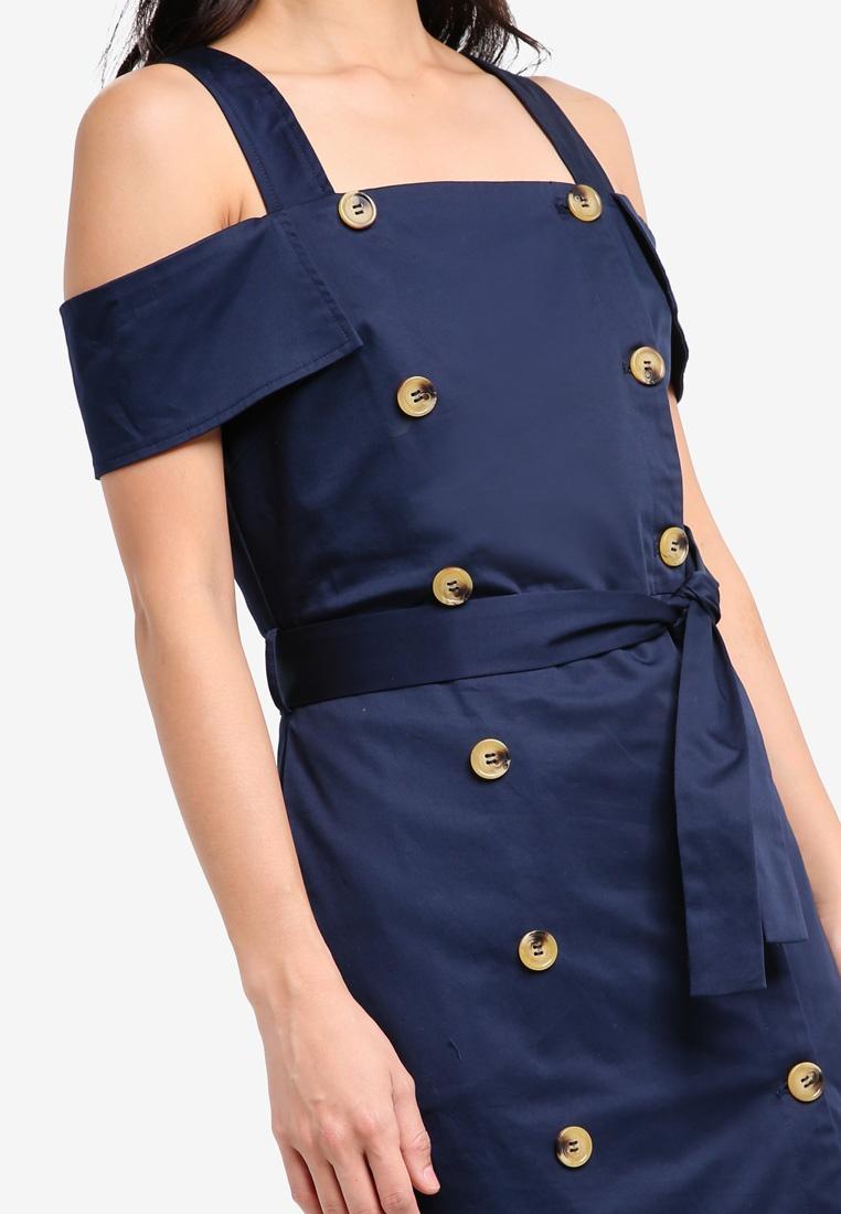 Dress Double Breasted ZALORA ZALORA Breasted Breasted Navy Navy Dress Dress Double Double zBx1zqr