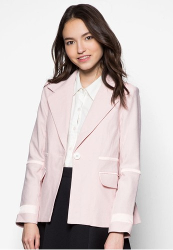 雙色滾邊西裝外套, esprit 品牌服飾, 夾克 & 大衣