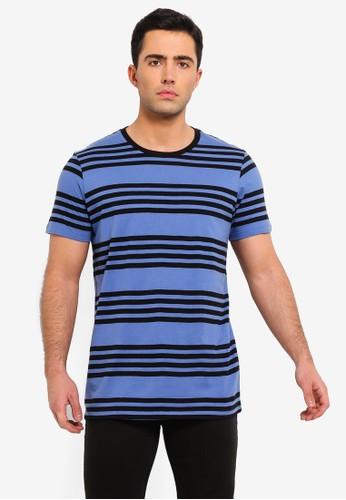 Cotton On white and blue Tbar Premium Crew T-Shirt EFEC1AA73785D3GS_1