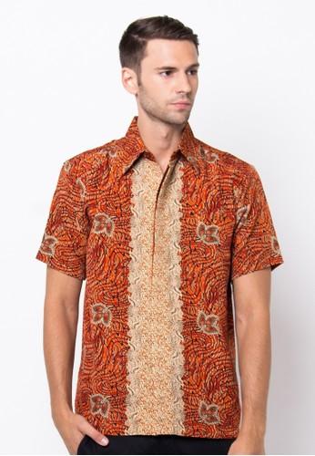 Waskito Hem Batik Semi Sutera - HB 10540 - Orange