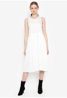 bf377a29e61 Susto The Label white Mareah Pleated Dress 50EF9AA7A1179FGS 1