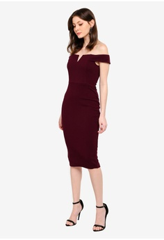 25% OFF AX Paris Bardot Midi Dress RM 209.00 NOW RM 156.90 Sizes 12 5352a7198