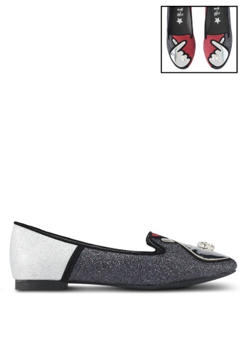 House of Avenues black All You Need Is Love Hand Loafers 1A703SH51ADF6FGS_1
