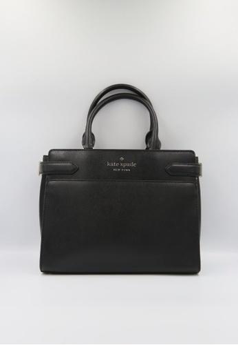 KATE SPADE black Kate Spade Medium Staci WKRU6951 Satchel Bag In Black B2FB1AC4868FC3GS_1