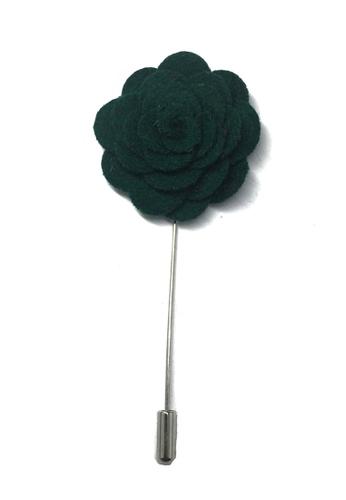 Splice Cufflinks green Dark Green Classic Camellia Fabric Flower Lapel Pin SP744AC62UCJSG_1