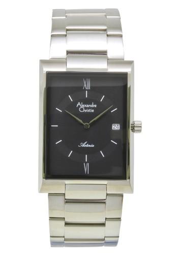 Alexandre Christie silver Alexandre Christie Jam Tangan Pria - Silver Black - Stainless Steel - 8535 MDBSSBA AL709AC0VF8IID_1
