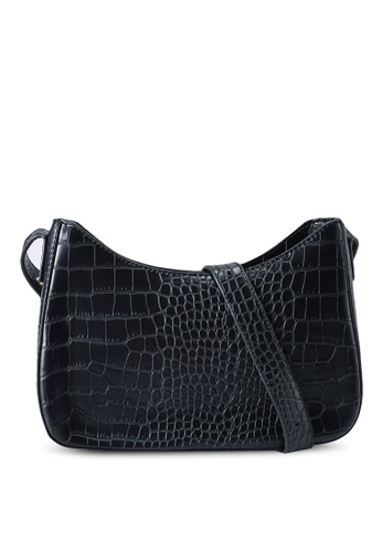 Red's Revenge black Aria Reptile Shoulder Bag 8A0C9ACC7EB844GS_1