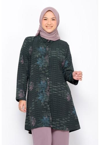 ZM ZM Zaskia Mecca - Eara Dark Green Tunik - Jelita Indonesia - Edisi Mentawai 438E8AAE954BCBGS_1