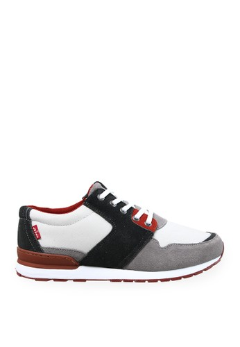 Levi's white and grey Levi's Sneaker NY Runner - Light Grey LE306SH19IIYID_1