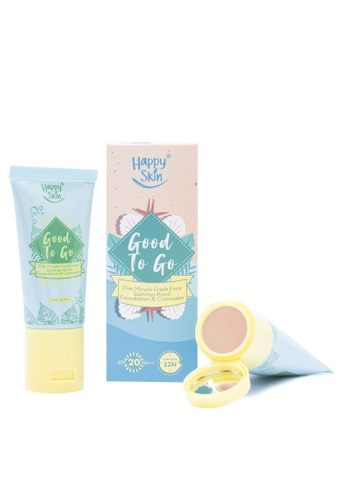 Happy Skin beige Good To Go Five Minute Fresh Face Summer-Proof Foundation & Concealer in Light F4822BE1B1CC09GS_1