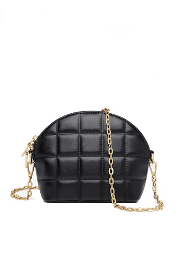 Twenty Eight Shoes black VANSA Fashion Lingge Chain Crossbody Bag VBW-Cb4028 75F3DAC62233A9GS_1