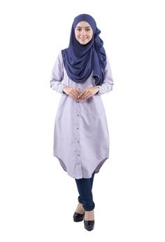 f1c3f01e73441e EDZ Dayana Ruffle Dress in Moon Beam Ivory RM 227.00. Sizes L · EDZ purple  Ashaa Long Tunic Shirt with Hidden Pocket in Light Purple ED756AA64STNMY 1