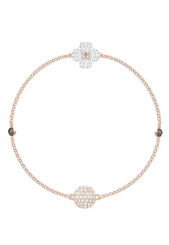 Swarovski gold Remix Strand Clover Bracelet 87A7CACE029669GS_1
